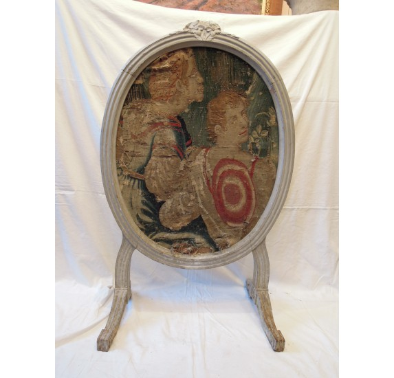 Tapestry fire screen 18th century