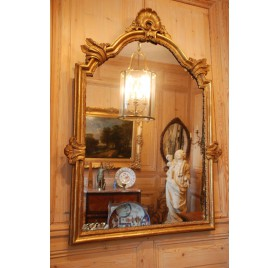 Giltwood mirror, early 18th century