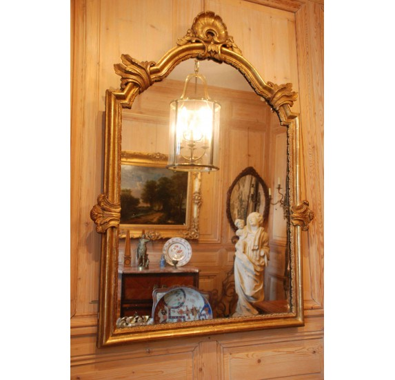 Miroir doré, début du XVIIIe siècle