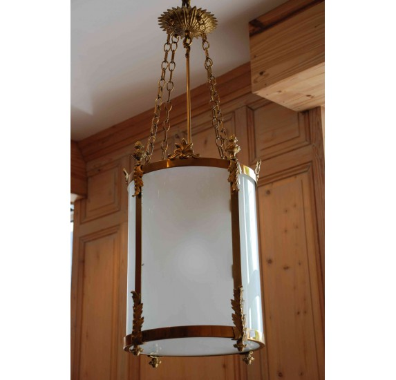 Great round frosted lantern, 19th century