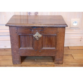 Rare small Norman oak coffer