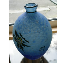 Art-Deco vase by Delatte, in Nancy
