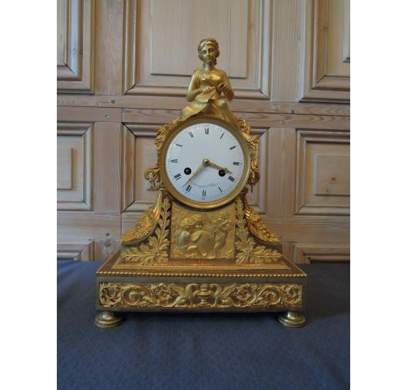 Pendule en bronze doré Armingaud (Paris 1806-1813)