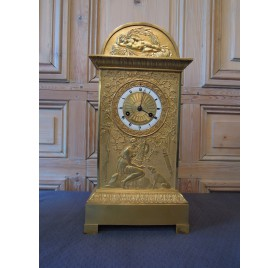 Gilt bronze one-eyed clock, allegory of fidelity, 19th century