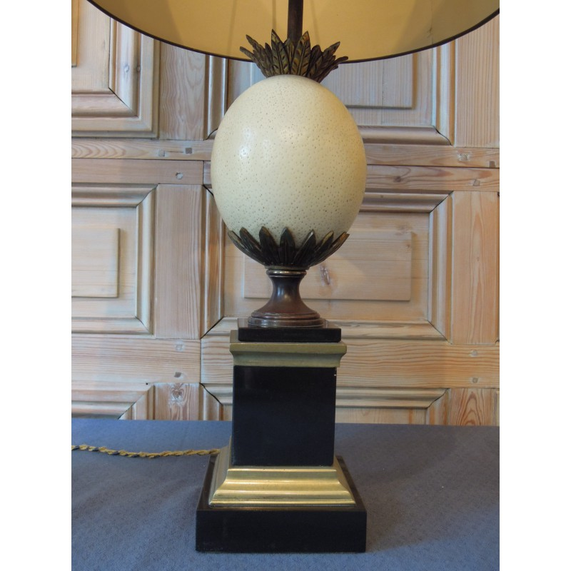 Lamp Ostrich Egg By Maison Charles Havas Antiquites
