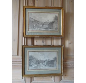 18th century drawings by Alexis Nicolas Perignon : farmhouse