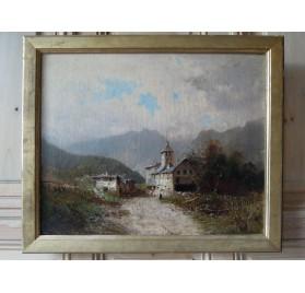 Paysage de montagne, Fin XIXème siècle.