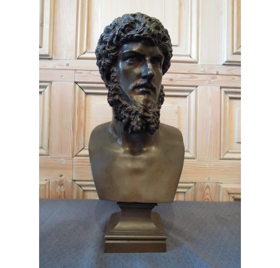 Buste en bronze de Lucius Verus, XIXème siècle.