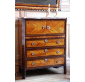 Small chest of drawers and secretary Louis XVI