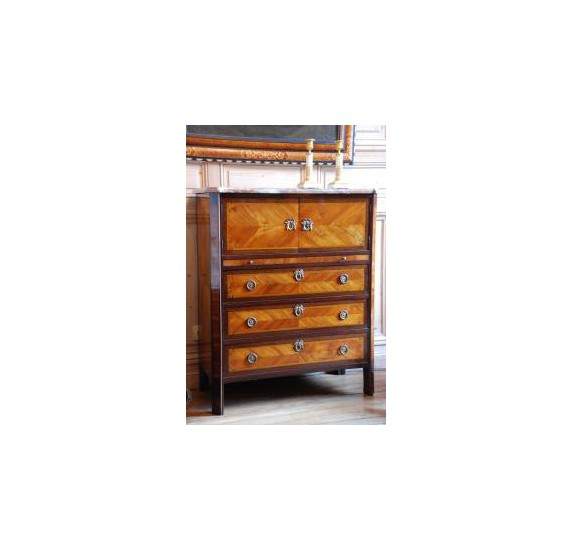 Small Chest Of Drawers And Secretary Louis Xvi Havas