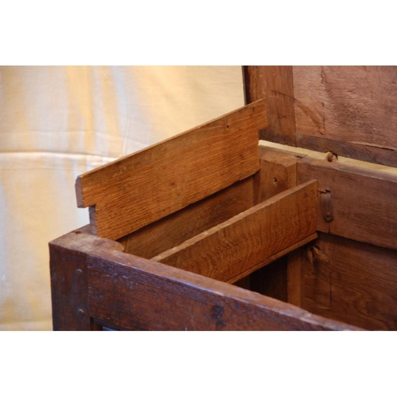 Petit coffre ancien en ch u00eane, avec son coffret   Havas Antiquites