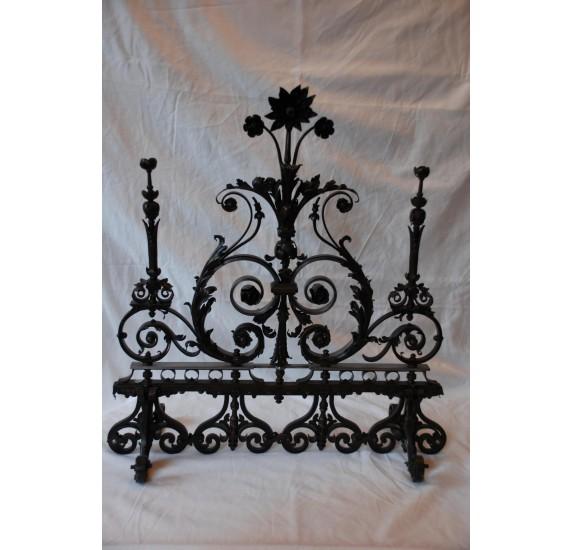 Workmanship wrought iron gate.