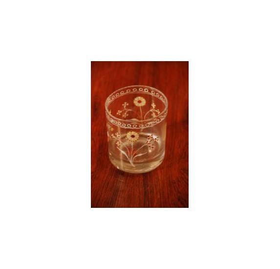 Ancien verre normand émaillé fin XVIIIe début XIXe