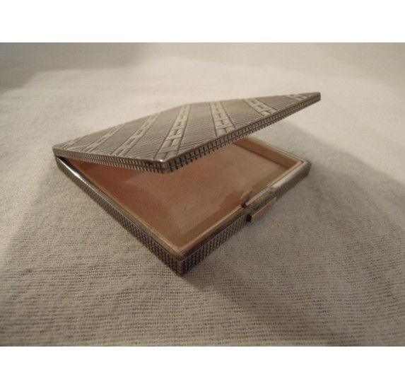 Art Deco sterling silver compact powder