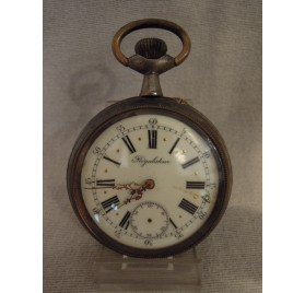 Steel regulator pocket watch, end of 19th c.