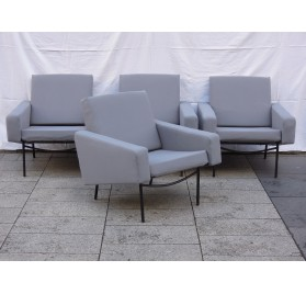 4 armchairs & 1 armless chair G10 Pierre Guariche, Airborne