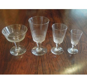 Set of glasses, 19th century