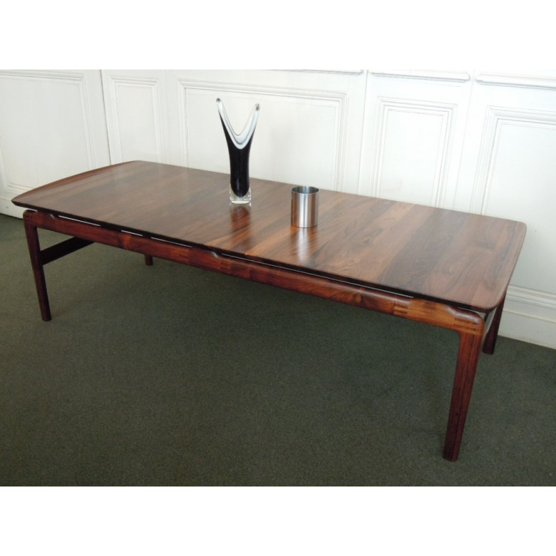 Rosewood coffee table by peter hvidt and orla m lgaard - Table basse palissandre ...