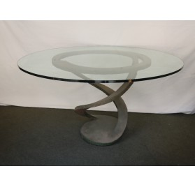 Dining table 'Metal Flower' by Maurice Barilone, Roche Bobois ed.