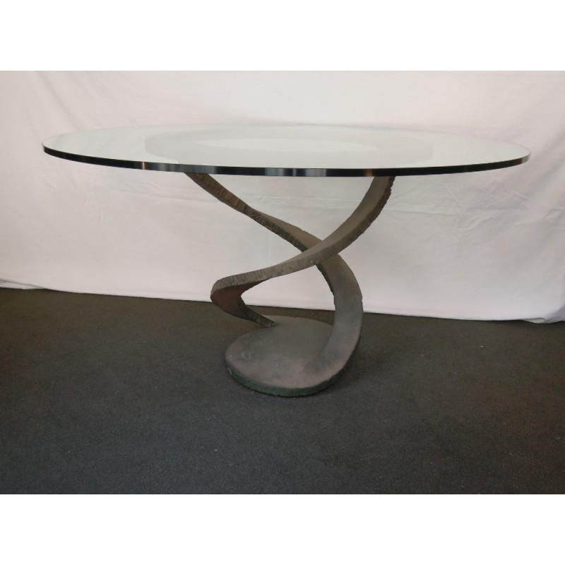 Table fleur de m tal de maurice barilone d roche bobois - Table marbre roche bobois ...