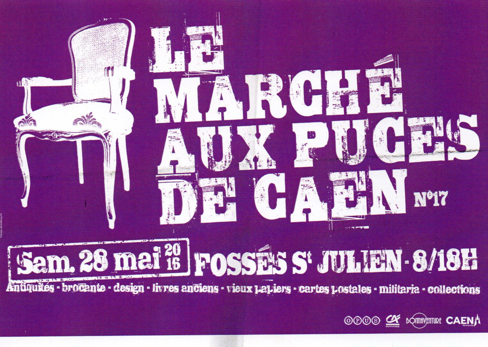 Flyer du 17e Marché aux Puces de Caen